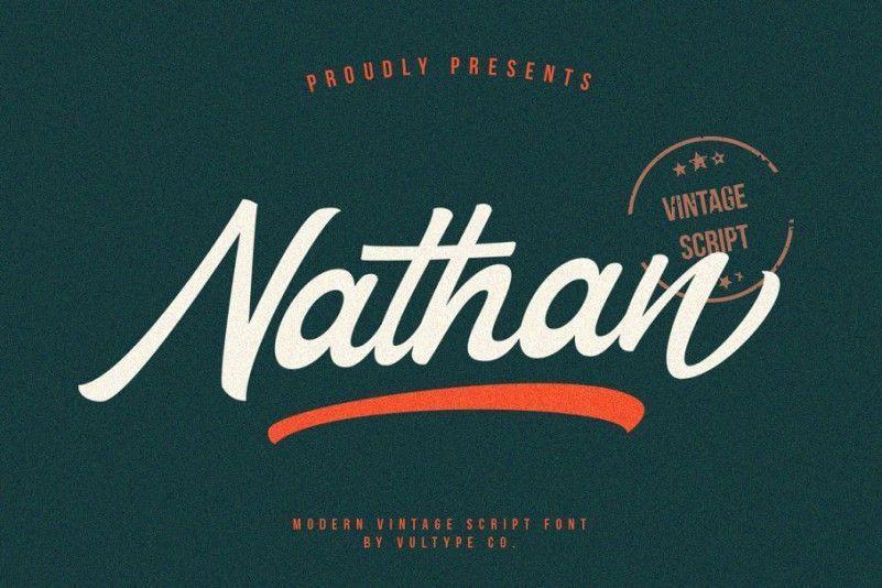 nathan-script-font