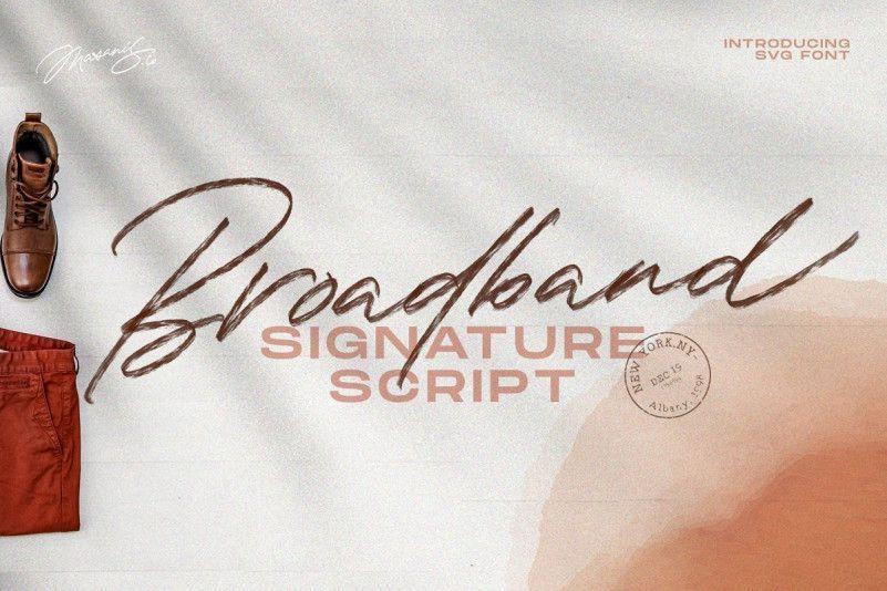 the-broadband-script-font