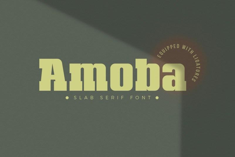 Amoba-Slab-Serif-Font