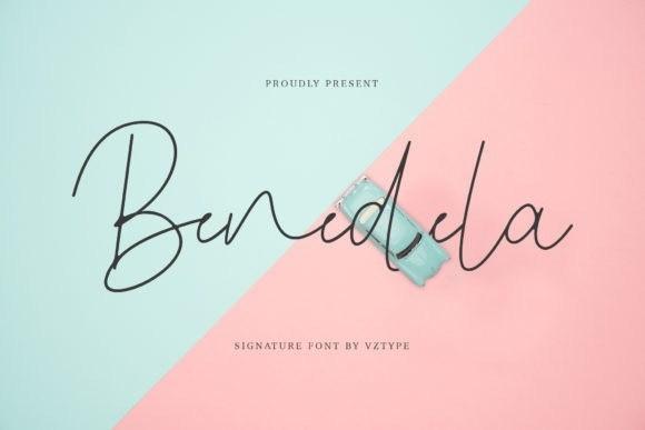 Benedela Signature Font