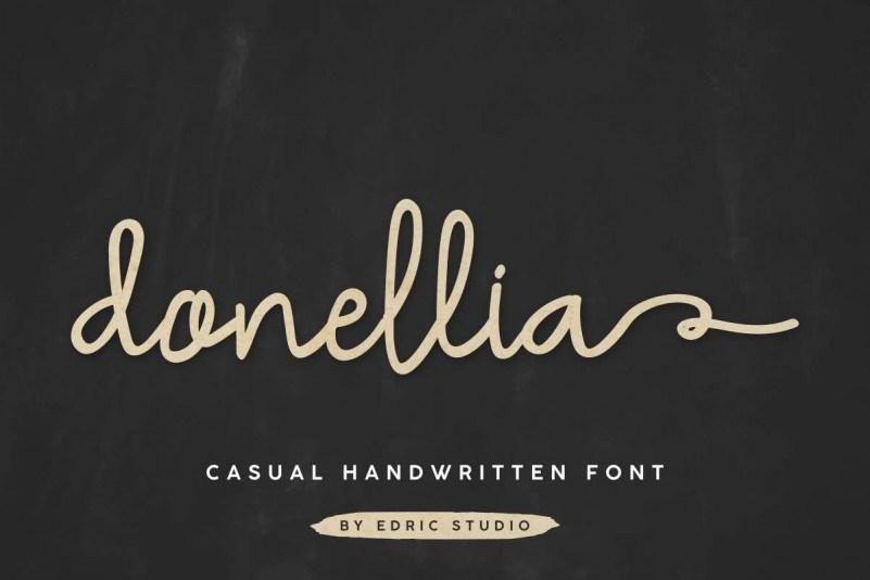 Donellia-Handwriting-Font