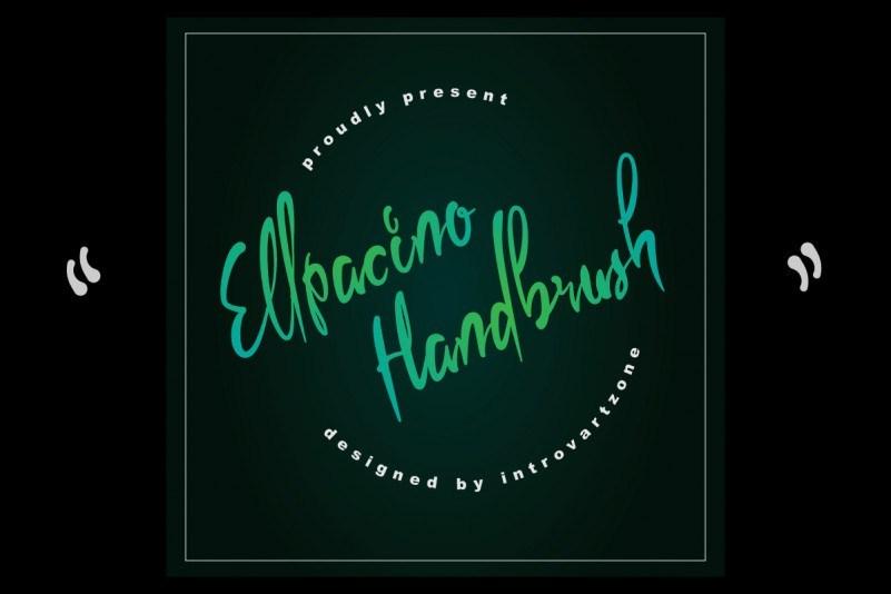 Ellpacino-Handbrush-Font