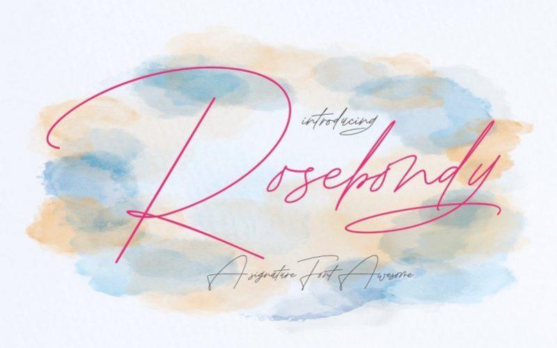 Rosebondy-Handwritten-Font