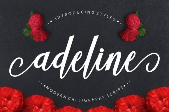 Adeline Calligraphy Script Font