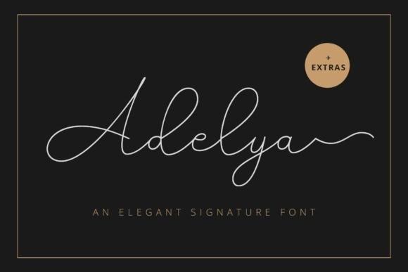 Adelya Signature Font