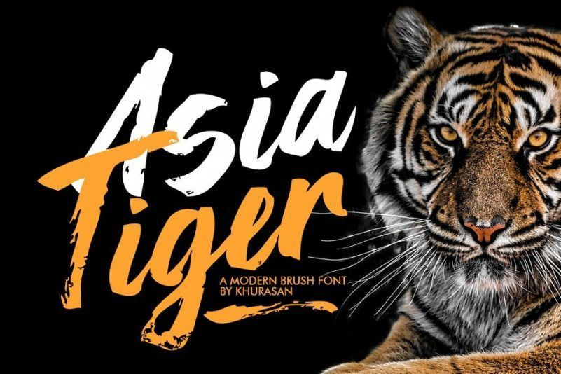 asia-tiger-brush-font