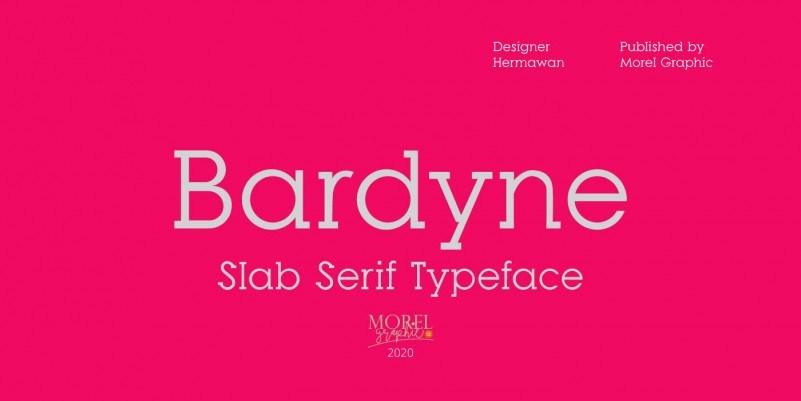 bardyne-slab-serif-font