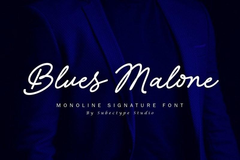 blues-malone-font