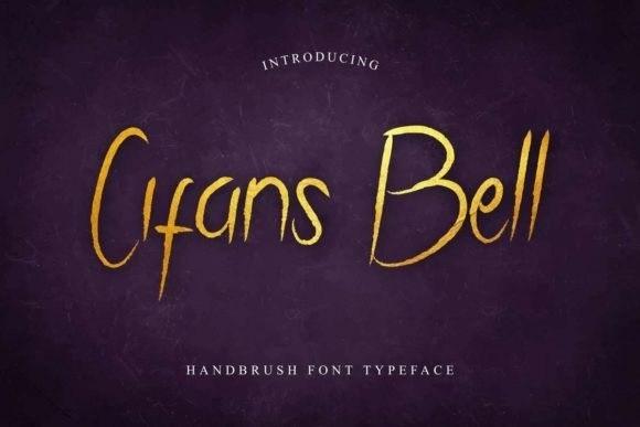 Cifans Bell Brush Pen Font