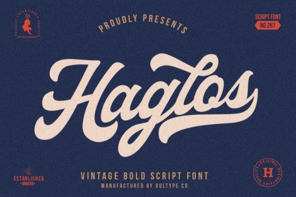 Haglos Bold Script Font