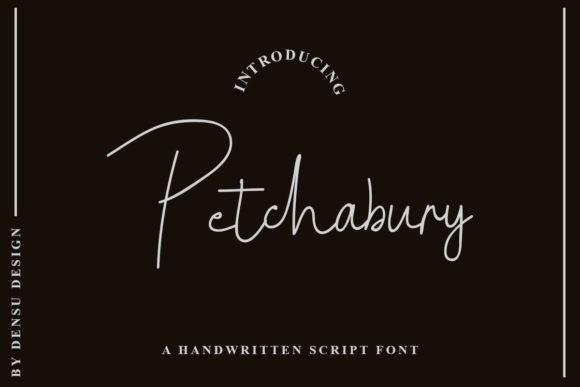 Petchabury Handwritten Font