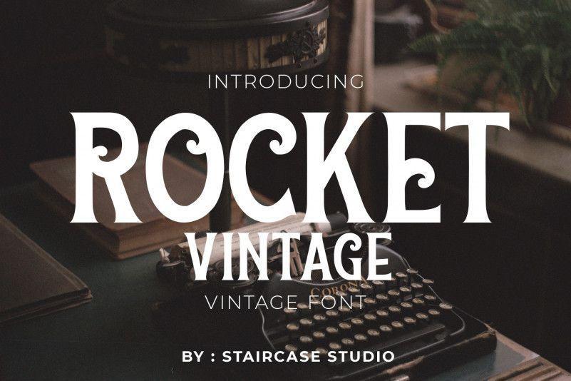 rocket-vintage-font