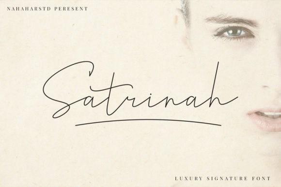 Satrinah Signature Font