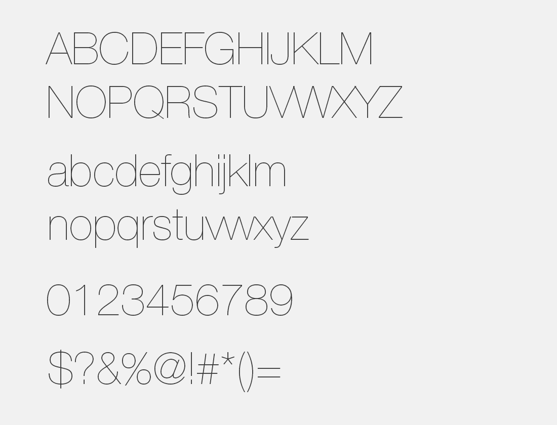 Lowvetica Ultra Thin font