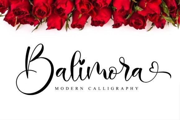 Balimora Calligraphy Font