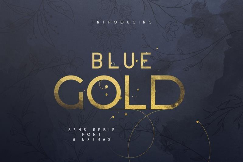 Blue-Gold-Sans-Serif-Font-1