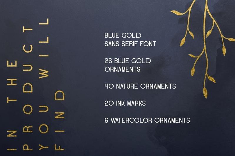Blue-Gold-Sans-Serif-Font-3