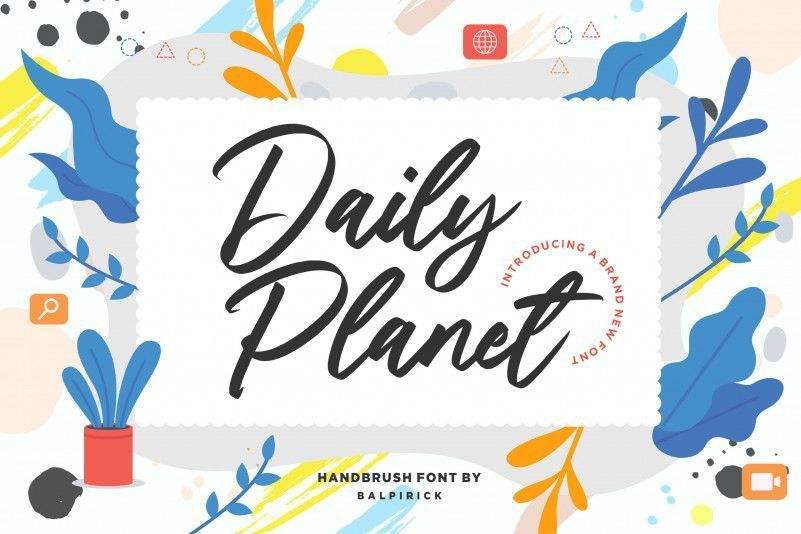 Daily-Planet-Handbrush-Font-1