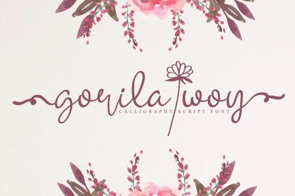 Gorila Woy Calligraphy Font