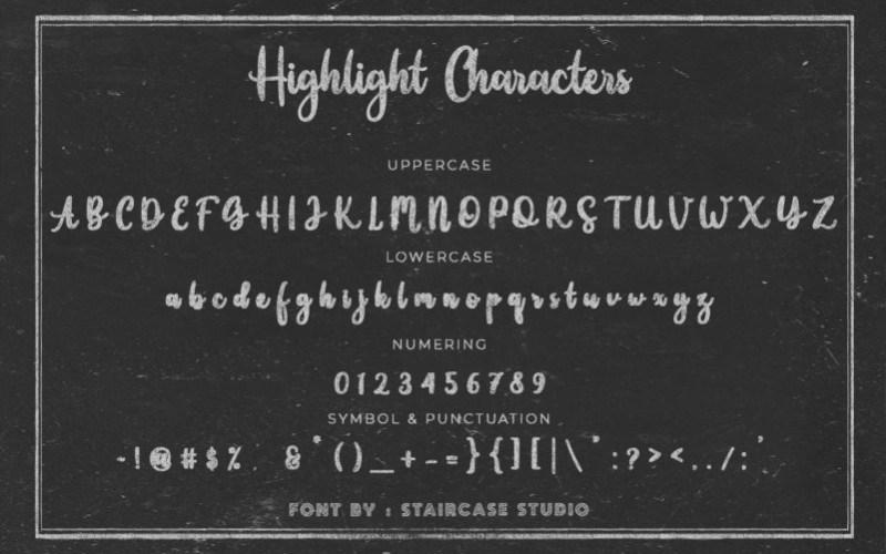 Highlight-Script-Font-2