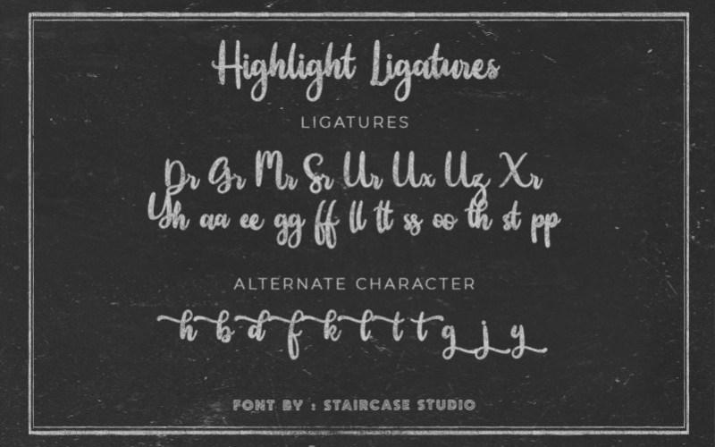 Highlight-Script-Font-3