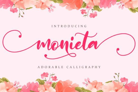 Monieta Dorable Calligraphy Font