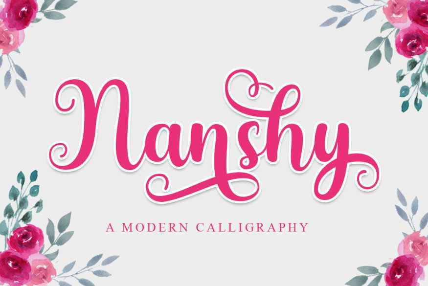 Nanshy-Modern-Calligraphy-Font-1