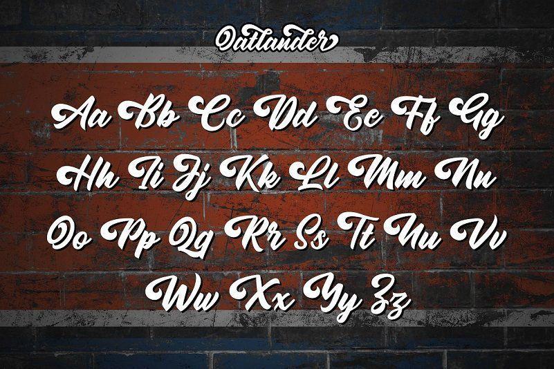 Oatlander-Bold-Script-Font-3