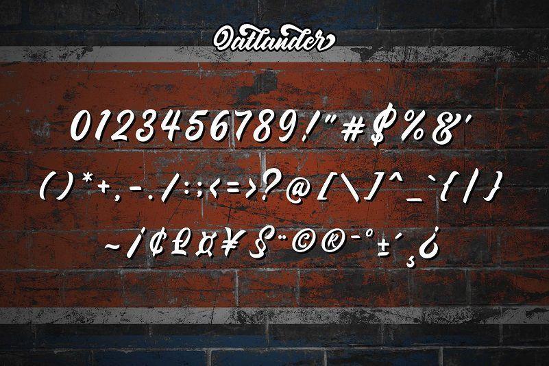 Oatlander-Bold-Script-Font-4
