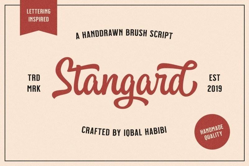 Stangard-Handbrush-Font-1
