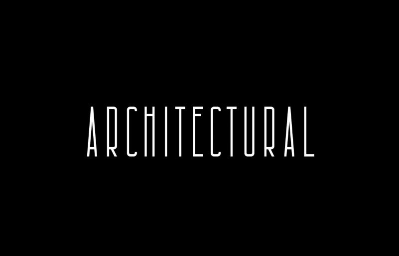 architectural-free-font