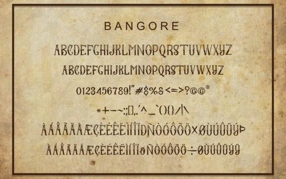 bangore-font-3