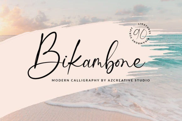 Bikambone Calligraphy Font
