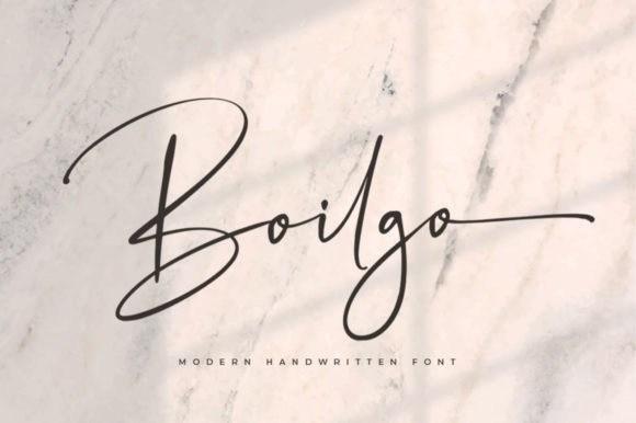 Boilgo Handwritten Font