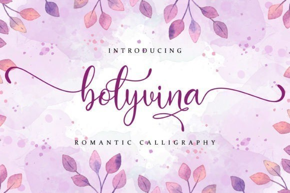 Bolyvina Calligraphy Font