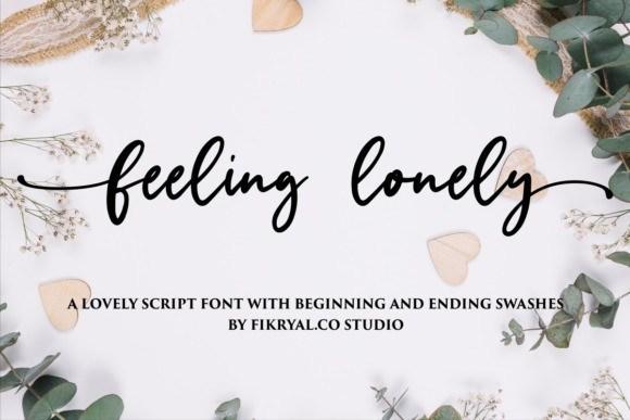 Feeling Lonely Script Font