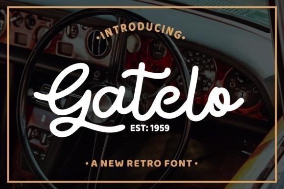 Gatelo Retro Font