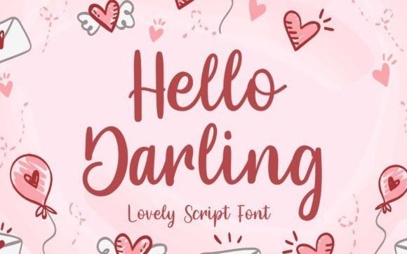 Hello Darling Script Font