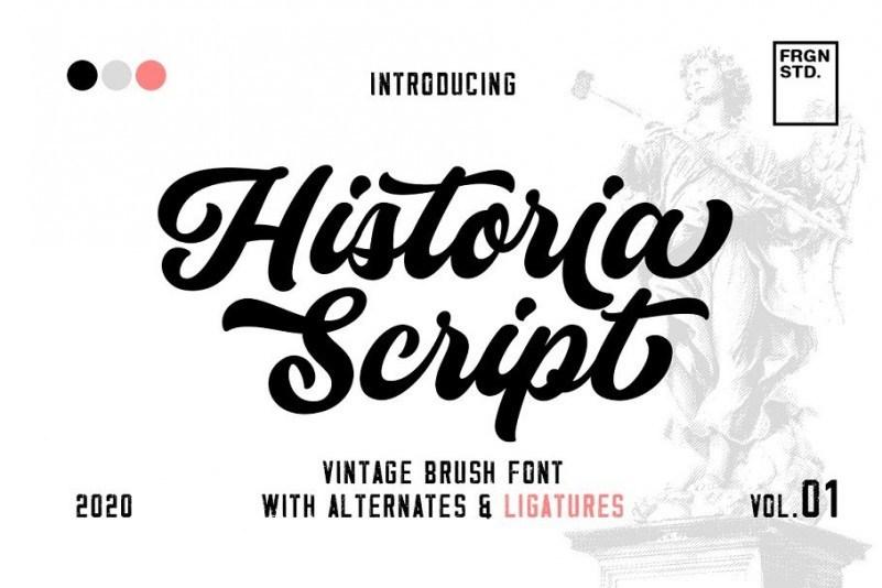 historia-vintage-script-font