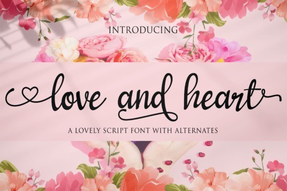 Love and Heart Calligraphy Font