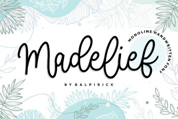 Madelief Monoline Font