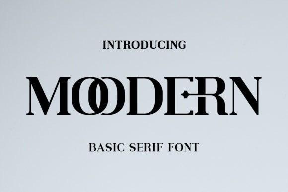 Moodern Serif Font