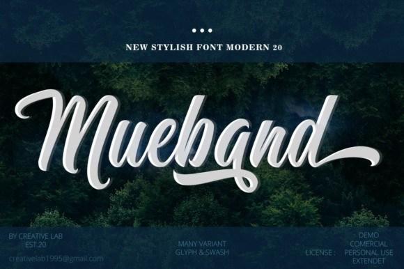 Mueband Script Font