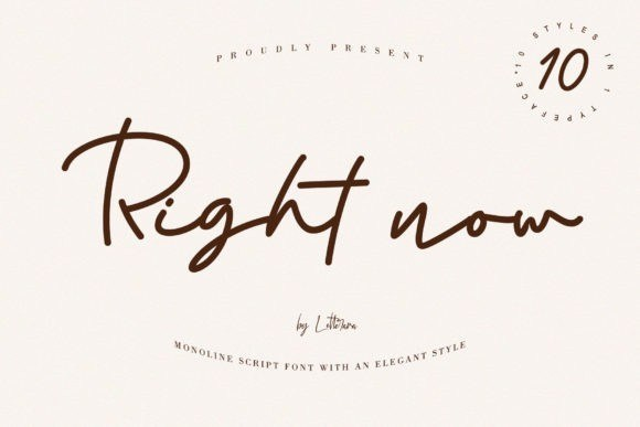 Right Now Script Font