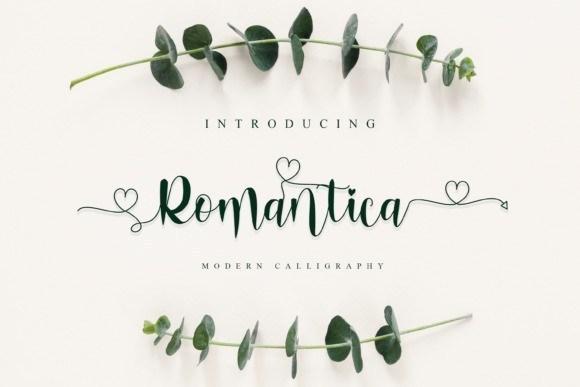 Romantica Modern Calligraphy Font