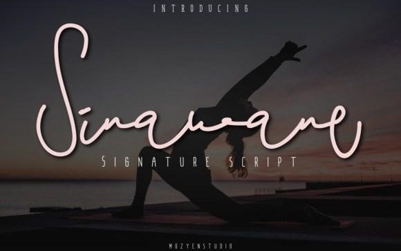 Sinawane Signature Font