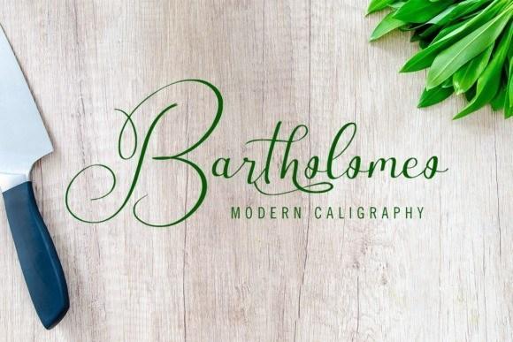Bartholomeo Modern Calligraphy Font