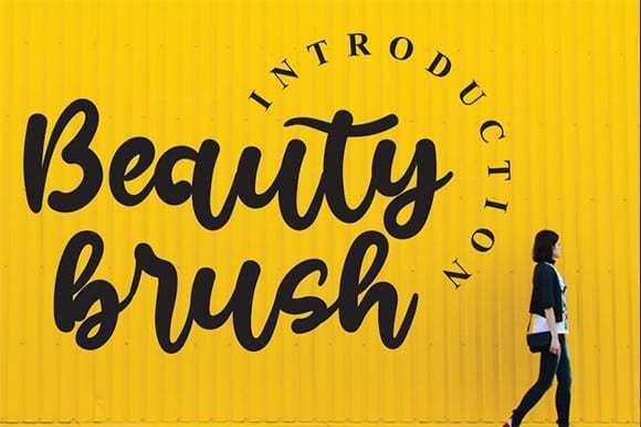 Beauty Brush Script Font
