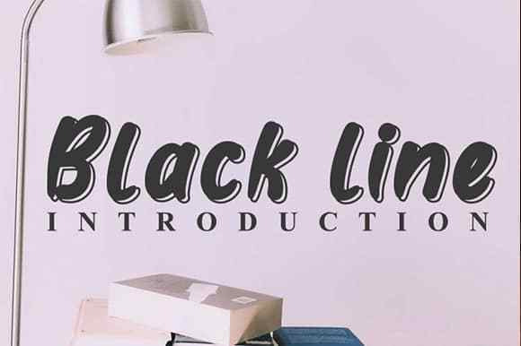 Black line Display Font