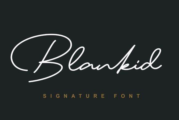 Blankid Signature Font